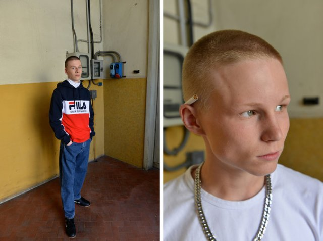 For a fashion show at a defunct cigarette factory, Gosha Rubchinskiy recruited underage models from all points of the globe. Credit Chris Warde-Jones for The New York Times