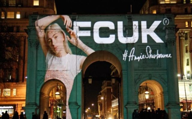 French Connection projected its FCUK revival onto London's Marble Arch