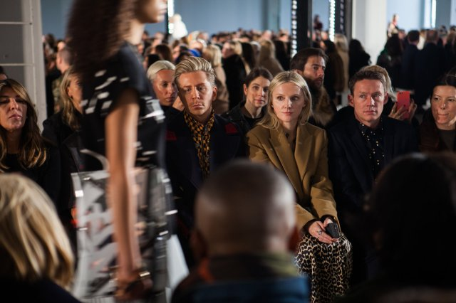 Laura Brown, the editor in chief of InStyle magazine, at the Proenza Schouler show on Monday. Credit Danny Ghitis for The New York Times