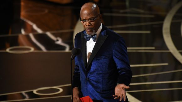 Samuel L. Jackson presents the award for Best Original score during the 89th Academy Awards. (Photo: Robert Deutsch, USA TODAY)